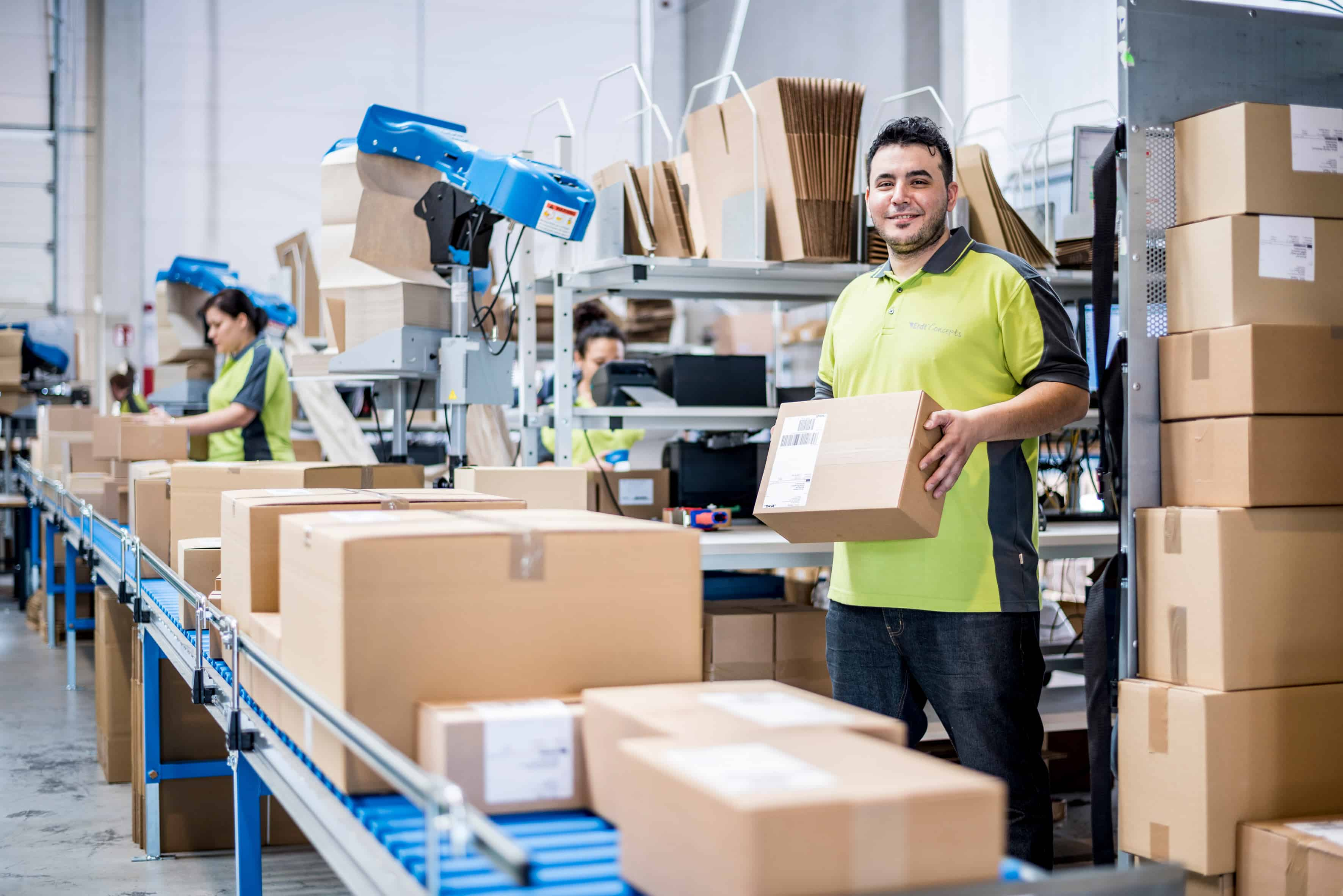 Fulfillment Verpackung Workflow
